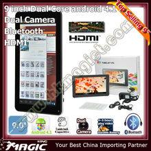 "9"" ultra+digital+de+tablet with hdm i input bluetooth software"