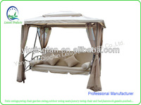 Luxury garden mental swing with canopy QF-6325