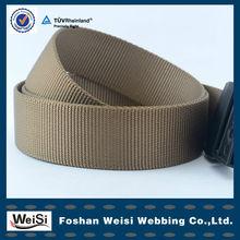 fashion customized military belt made of nylon webbing