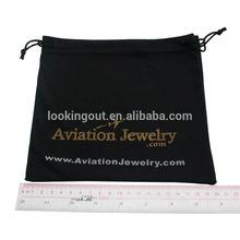 black drawstring big custom design fabric gift bags