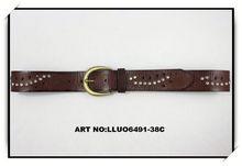 belt with metal buckle\womens beaded belt