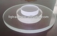 Pyrex glass round plate 15mm thickness