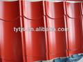 carreaux de toiture en acier revêtu de couleur / tuile de couleur rouge enduit de toiture en acier / mince tuiles de toiture enduit de couleur en acier