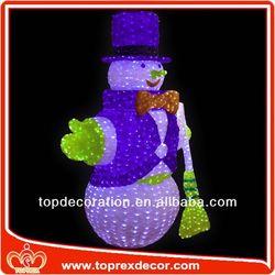 3D Lighting Snowman snowman candy jar