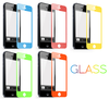 Hot sale factory price color tempered glass screen protector for iphone 5