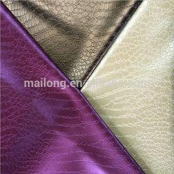 PVC crocodile design handbag leather material with shining surface