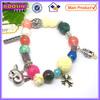 Fashion bracelet/metal alloy charm bracelet/bead bracelet #31429
