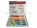 Alta qualidade 7 pcs suíça linha realeza não- stick cor de revestimento faca de cozinha conjunto