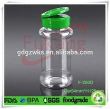 200ml Plastic Spice Bottles Wholesale,200ml Chilli Powder PET Plastic Spice Jar,Small Plastic Spice Container With Flip Cap