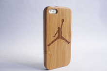 Bamboo wood cell phone case with engraved logo / New design mobile phone case for iphone 4/ 5/5s / wholesale cell phone case
