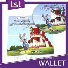 2 panneau pleine couleur impression carton CD Wallet