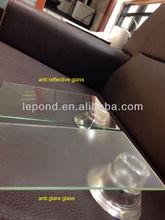 non-glare picture frame glass/outdoor non glare display glass