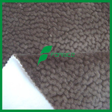 Hot sale 100 polyester bonded polar fleece micro velvet fabric for sofa