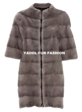 mk14207 elegant European style mink fur coat