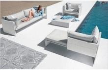 white aluminum outdoor patio furniture