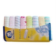 exporter logos designs customizing towel set in gift pack