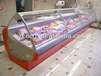 Service counter used meat display refrigerator