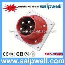 2014 IP44 CEE/IEC International Standard 3P+N+E(5P) electrical 380v plug socket