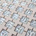 Ztclj jy-g-80 de alta calidad de cuarto de baño foshan lowes cerámica de primera calidad de onda mosaicos de vidrio mezcla de azulejo de cerámica italiana cerámica precio