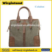 2014 Unisex Canvas New Fashion College Polular Retro Handbag Leather Bag Wholesale Worldwide