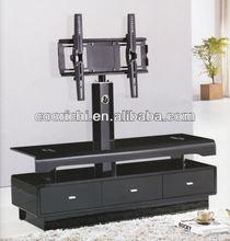 new design glass modern living room wooden tv stand