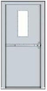 hgh qulity Steel Fire Rated Door BS476 standard certificate powder coat JX-SFD03