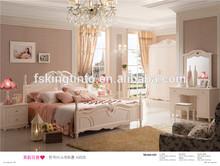 2014 latest design white adult bedroom furniture bedroom sets.1.8 bed.4-door wardrobe.fashion design