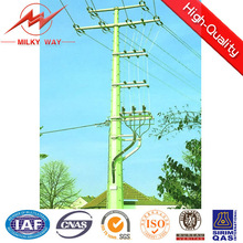 11kv &33kv conical or polygonal hot dip galvanization electric pole machine for cable support with arms and conductors