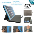 Multifunctional waterproof and shockproof stand tablet case for ipad air tablet pc and mobile phone with card slot