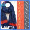 2014 new fashion scarf,printed polyester scarf,polka dots printing scarf