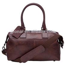 Handmade fine italian leather handbags / leather hang tag men bags traveller bag / wider strap men duffel bags