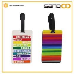 Promotion Wholesale shaped custom logo Cheap Bulk Soft PVC Luggage Tag