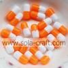 New Orange & white 6*12MM 500pcs Pendants Jewelry Resin Chunky Beads Bubblegum Ball Necklace Colors