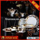 Luxury Fine Bone China 47pcs Dinner Set of Knight