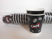 wholesale disposable food containers double wall paper hot chocolate cups from Wuhan,China