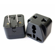 Hot selling 2014 universal to usa two flat pin plug travel adaptor wtih two sockets CE Rohs