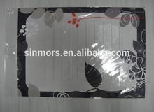 Custom leaves dry erase whiteboard,self adhesive whiteboard film,removable whiteboard sticker reusable