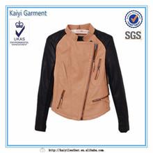 Hit color de los cordones suaves populares mujer de la chaqueta del deporte