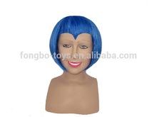 Blue yaki short wig Human hair wig Party wig