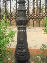Antique Cast Iron Street Lamp Pole Base / Garden Lamps Base