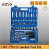 "1/2""&1/4"" Dr.108PCS Socket Set/High Quality King Tool Socket Set"