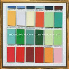 2015 UV high glossy 18mm colored laminated melamine mdf board