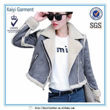 Ladies Fashion Winter Coat Leather Detachable Jacket