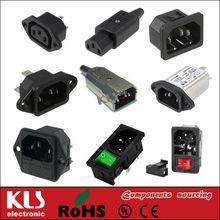 ac power socket with fuse UL CE ROHS 65 C13 C14 2 3 pin female male plug IEC320 inlet 110v ac power socket