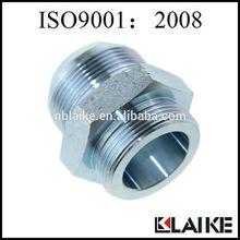 Straight JIC Male 74 Degree Cone SAE O-ring Adapter Hex Nipple 1JO