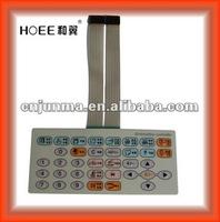 PET/PC graphic overlay membrane keypad