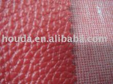 Leechee line pvc leather fabric for shoe, bag, sofa