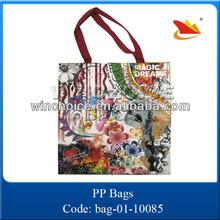 2015 full printing customised foldable non woven shopping bag