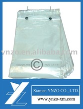 Perforated plastic food packaging bag--wicket bag style