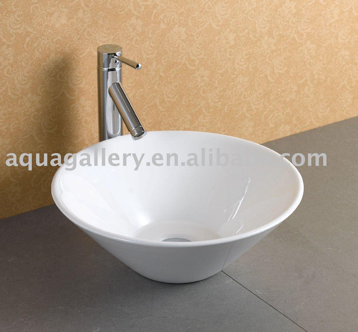 Bowl Shape Ceramic Washroom Sink - Buy Washroom Sink,Ceramic Art Basin ...